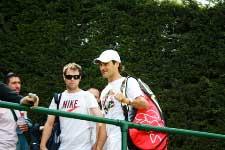 Roger Ferer at Wimbledon